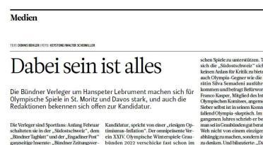 """Screenshot der Zeitung """"Schweizer Journalist"""""""