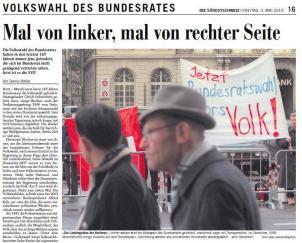 Screenshot Die Südostschweiz, 3. Mai 2013