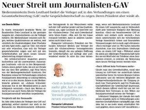 Neuer Streit um Journalisten-GAV